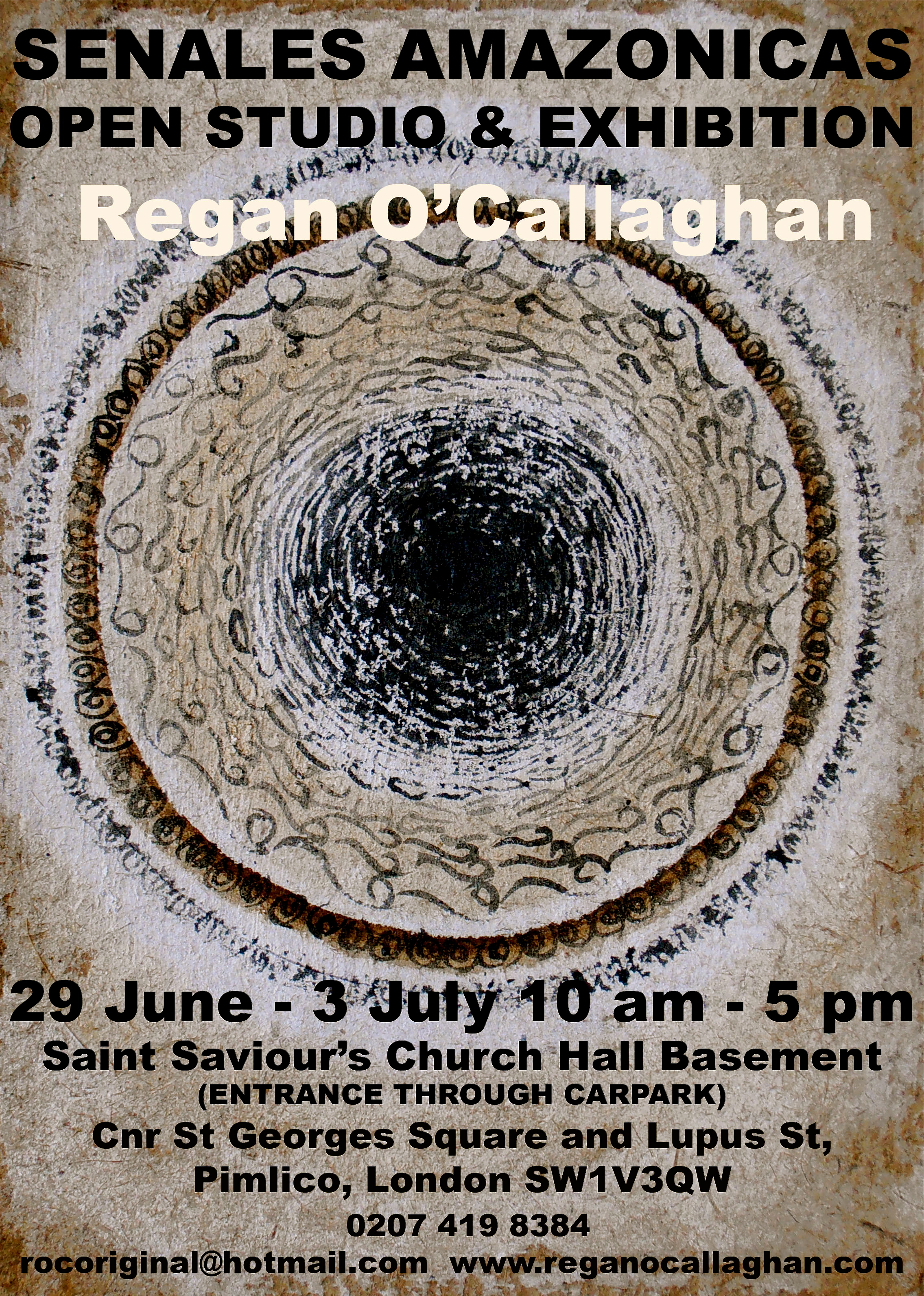 Regan O'Callaghan Senales Flyer, Saudade, aguaje paper, natural pigments, Sachaqa art centre