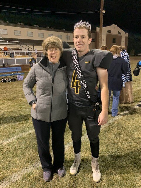 Jody pictured here with Cole after a football game this fall
