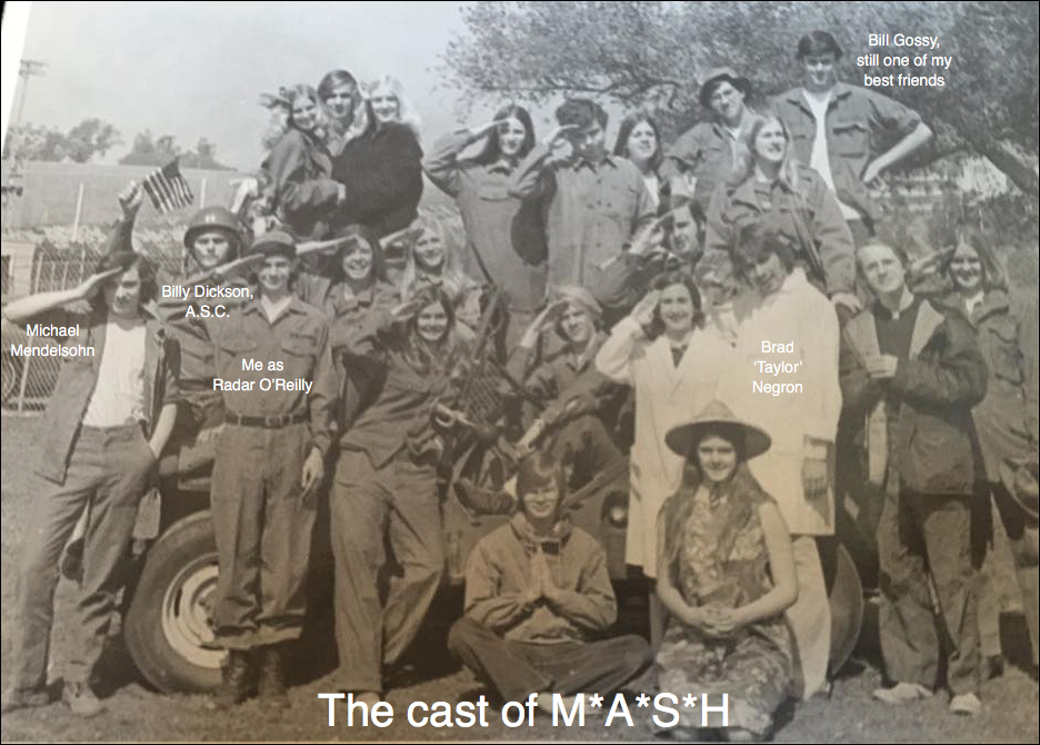 My fellow actors and I in stage production of M*A*S*H