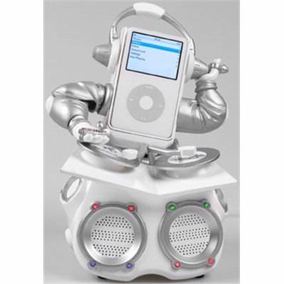 ipod with arms, headphones DJing