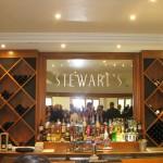 Glass mirror behind bar of Stewarts at Brookleigh Estate