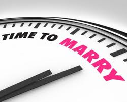 Clock with text time to marry