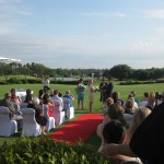 Wedding Ceremony with Red carpet at Burswood Golf Course