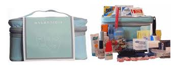 Bridal Emergency Kit with equipment packed and unpacked