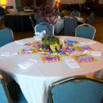 Children's table at a wedding