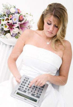 Bride with Calculator