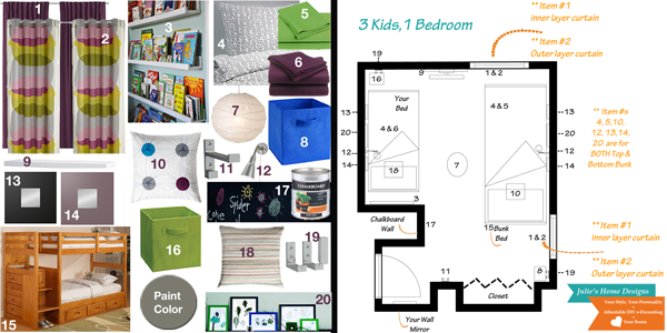 boy and girl shared room design