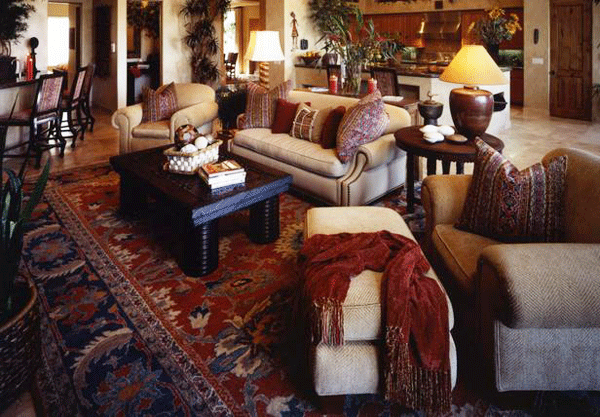 Make sure your patterns harmonize well. Pic courtesy of HGTV