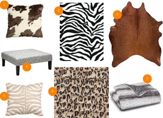 Spice Up Your Room with Animal Print Decorating Ideas -mood board