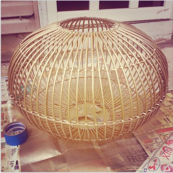 DIY chandelier makeover