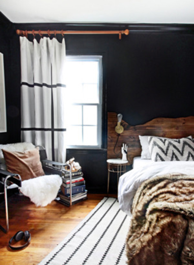 how to revamp your room-black walls