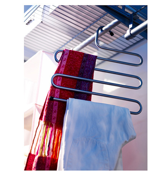 How To Organize a Small Closet-multi hanger