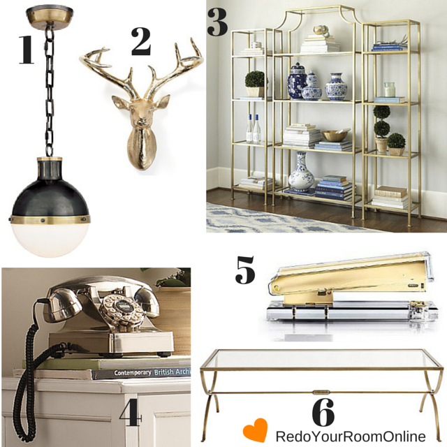 How To Add Glam To Your Room With Metallics
