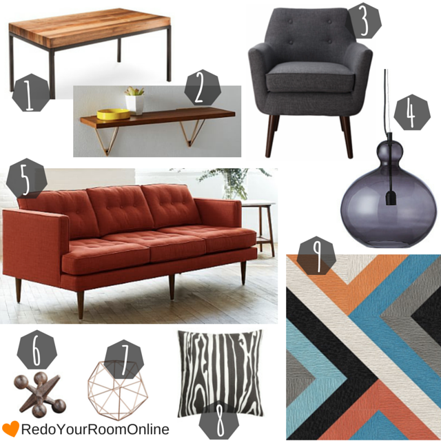 How To Decorate Using Mid Century Furniture