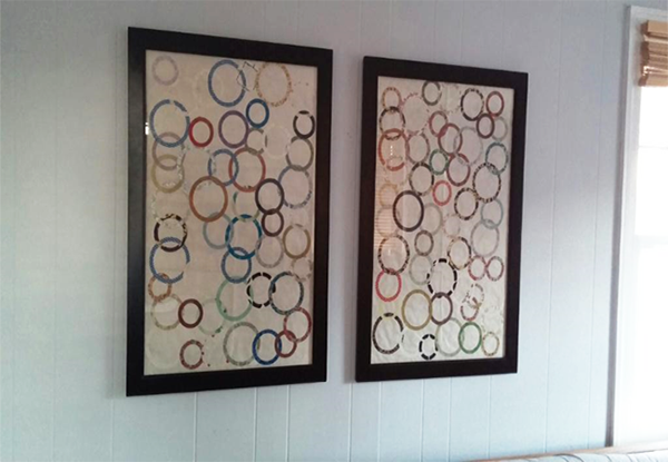 Quick and Easy DIY Wall Art Ideas-wrapping paper