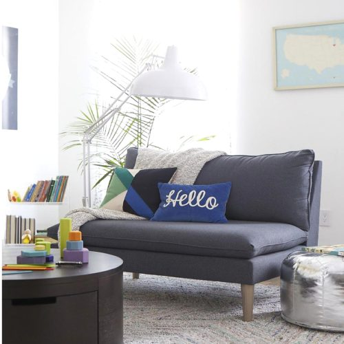 How To Select Furniture For a Small Living Room - Love Seat Over Sofa