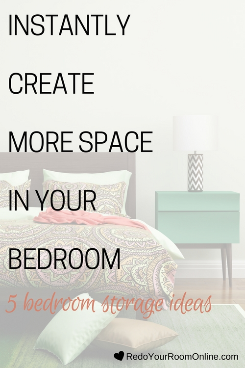 Some of us don't have the luxury of having a big bedroom (I know, reality sucks. It really does!). So coming up with bedroom storage ideas for your small bedroom can be challenging as hell. Your closet may be stuffed to the max, but let me tell you that closets aren't the only place that you have for your things. It's not the end all, be all for storage. Click through for some bedroom storage ideas.