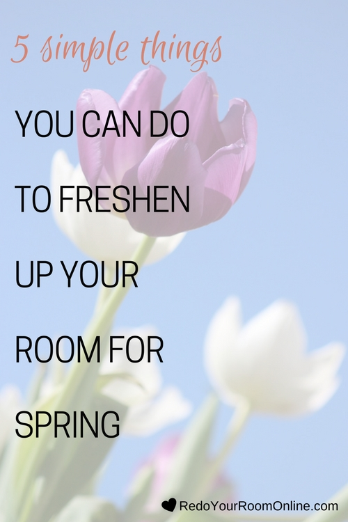 You're probably ready to trade in your winter boots for some cute open toes like me, so why not start switching some things up in your room for Spring too? Click through for the interior design tips on 5 simple things you can do to freshen up your room for Spring.