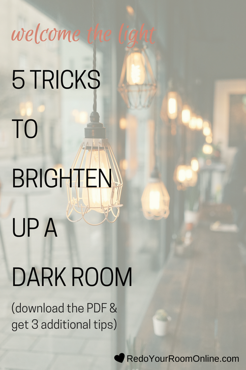 Dark rooms can feel cozy, but if done wrong, they can feel down right depressing and no one wants to feel depressed. No worries, I've got your back with tips on how to brighten up a dark room and let all of that light in for a bright and energizing space. Click through to check out the interior design tips and grab your pdf with 3 additional tips.