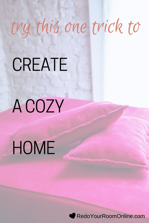 Try This One Trick To Create A Cozy Home: I'm a sucker for a cozy home. Just the word cozy feels so warm and makes me want to curl up and bust out some popcorn and binge out on some Netflix. Is it just me? Figuring out ways to create a cozy home is a common thing that people want to know, but they just feel stuck and don't know where to start. Click through to check out the interior design tips.