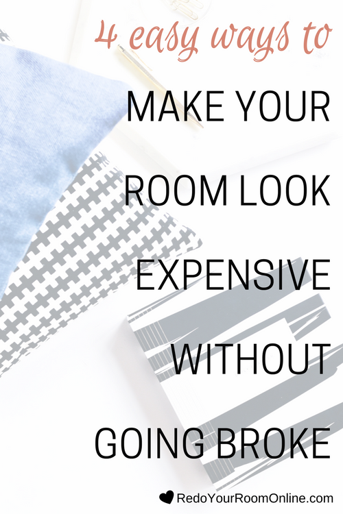 4 Easy Ways To Make Your Room Look Expensive: Even if you're not the boughie type, a little bit of sophistication in a room never hurt nobody (even in small ways). You don't have to be a fan of the chic look either because you can sprinkle bits of sophistication into your room without it looking stuffy. I'm going to hook you up with 4 easy ways to make your room look expensive and I promise you that it won't be hard or make you broke either. Click through for the interior design tips.
