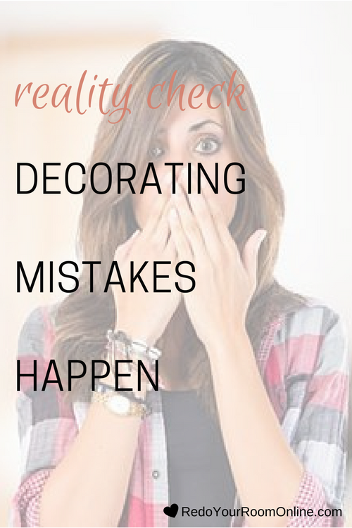 I'm going to keep it real with you because that's what I do. No matter how much planning you do with your decorating project, decorating mistakes happen. They just will. Whether it's picking the wrong paint color or not hanging your wall art correctly or forgetting an item off of your supply list, the list can go on and on and on. I say this to say, stop being so hard on yourself! We all make mistakes, even decorating mistakes. Myself included! Click through for the interior design tips
