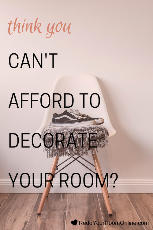 THINK YOU can't afford to decorate your room? I'm going to show you some interior design tips that will prove you wrong. Click through to check out the home decor tips.