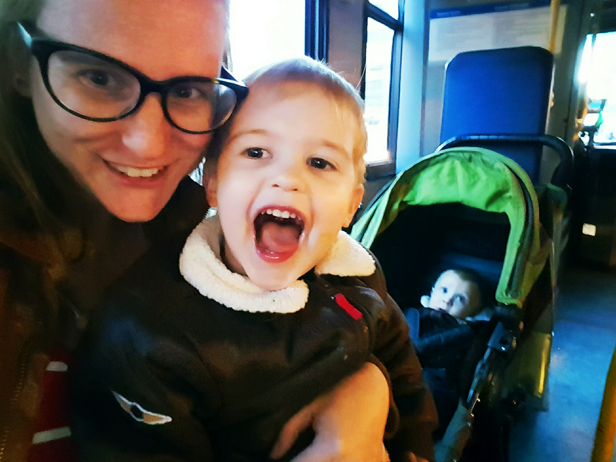 Sometimes building mastery is as simple as surviving a bus ride with 2 kids. Check out more DBT Skills got Parents on HappyGoMama.com.