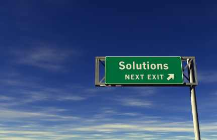 Solutions-freeway-sign