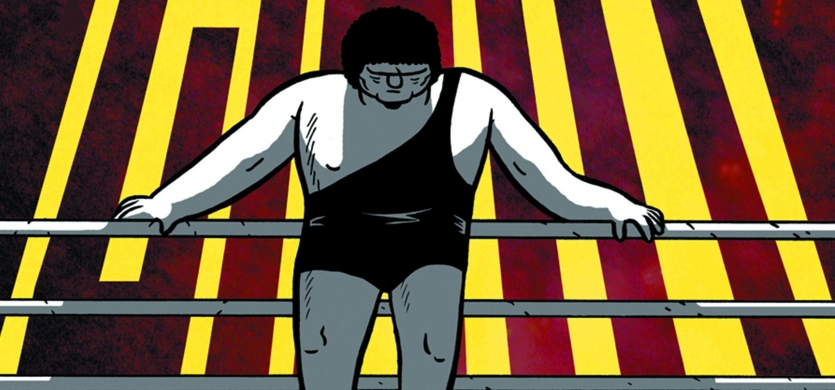 Box Brown signs Andre The Giant at Challengers 6/12/14