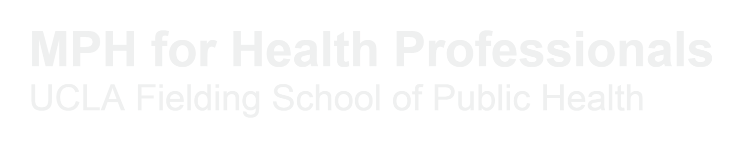 MPH for Health Professionals - UCLA Fielding School of Public Health