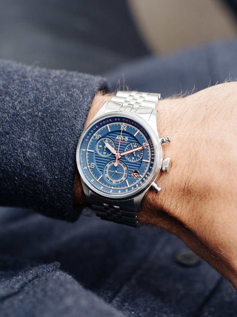 AVI-8 Lafayette Bleu Watch Review- Stainless Steel High Quality Watch — duuude- Stuff Guys Want