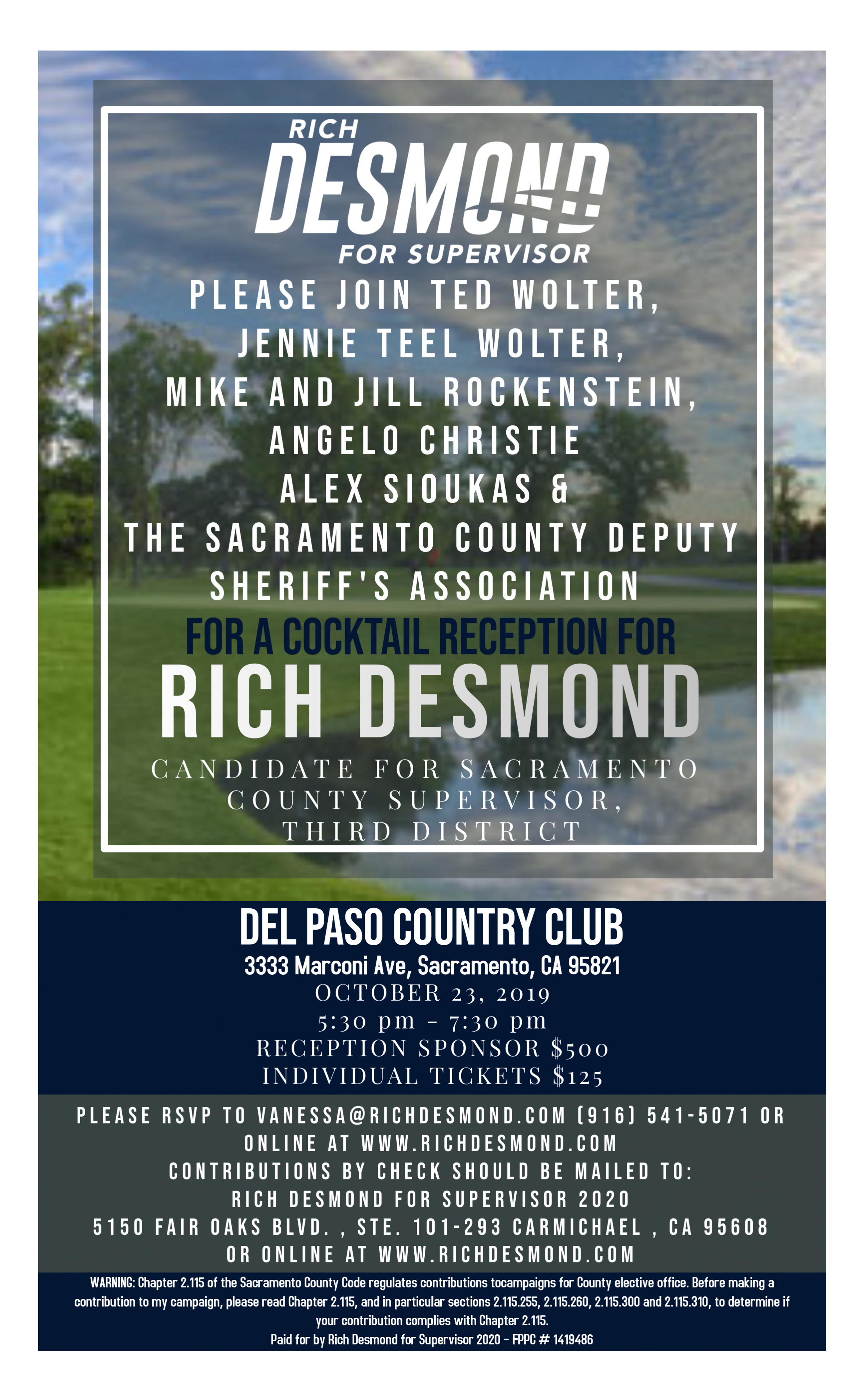 County Fair Sacramento 2020.Events Rich Desmond For Supervisor