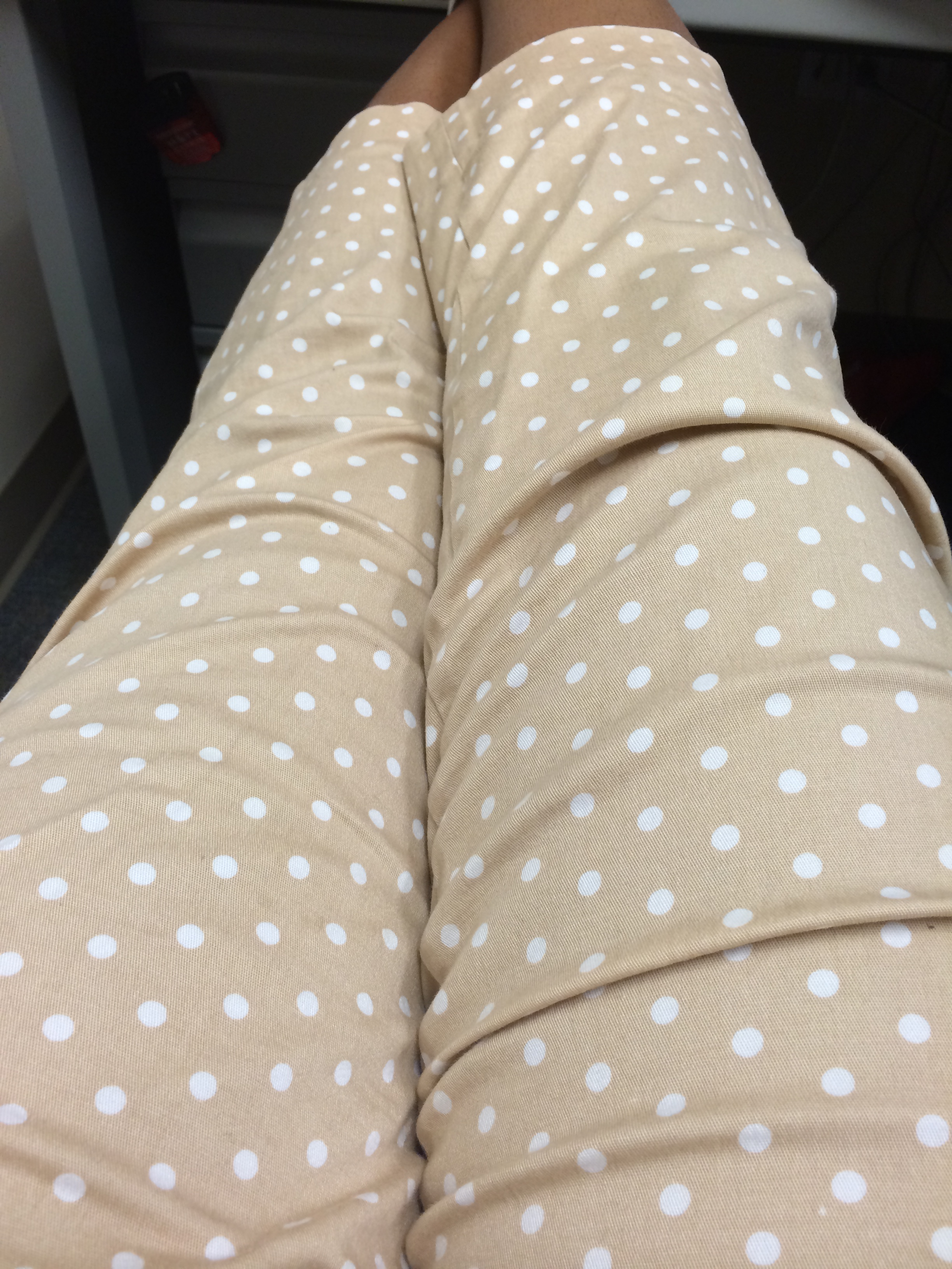 I love these polka dot pants.