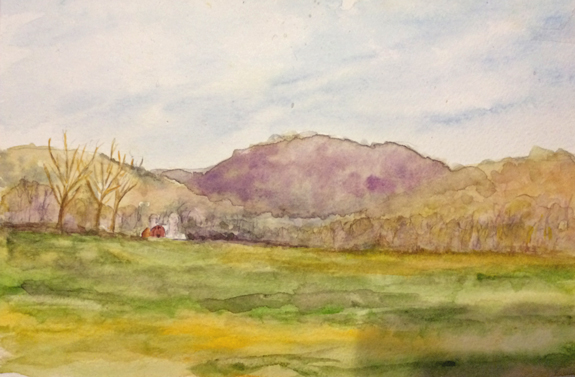 Nolans Farm 6x8, Watercolor