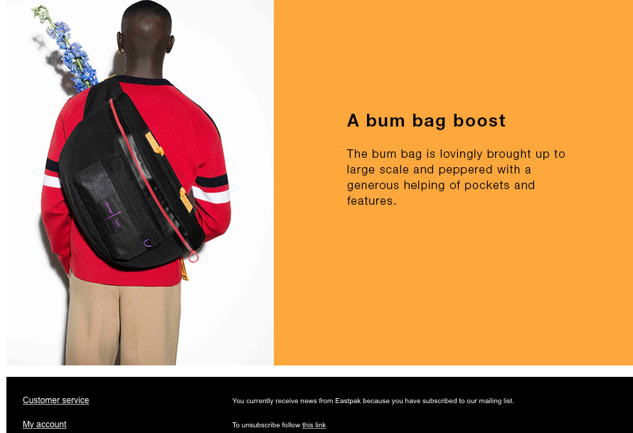 eastpak marketing email 3