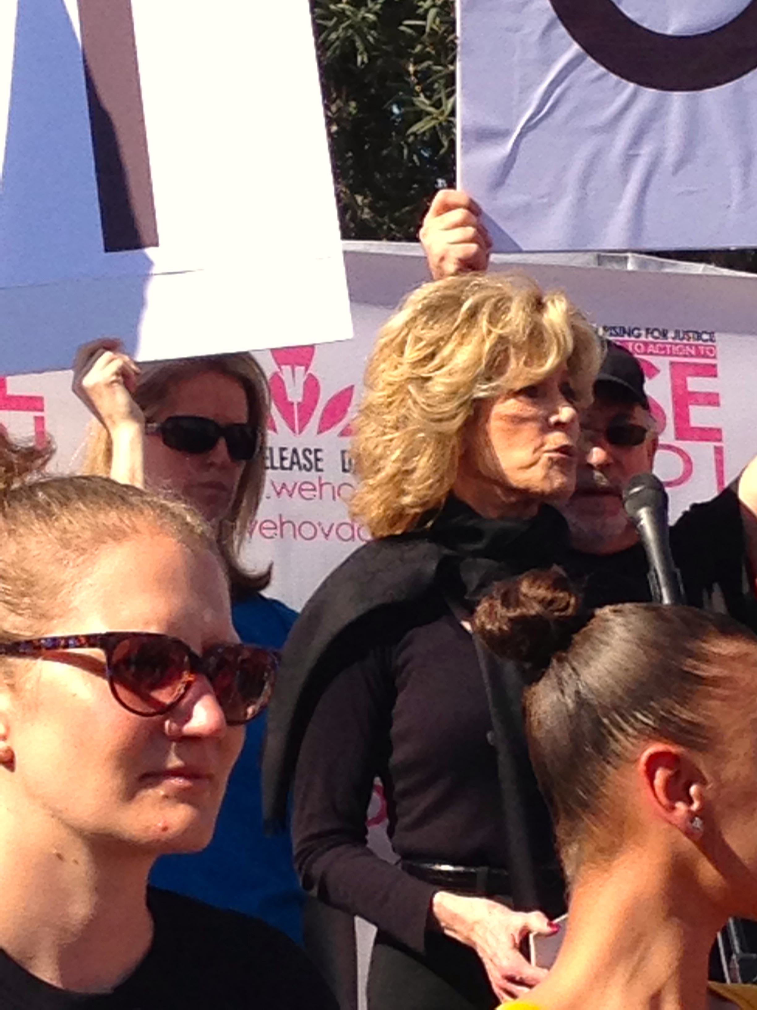 Jane Fonda at One Billion Rising for Justice