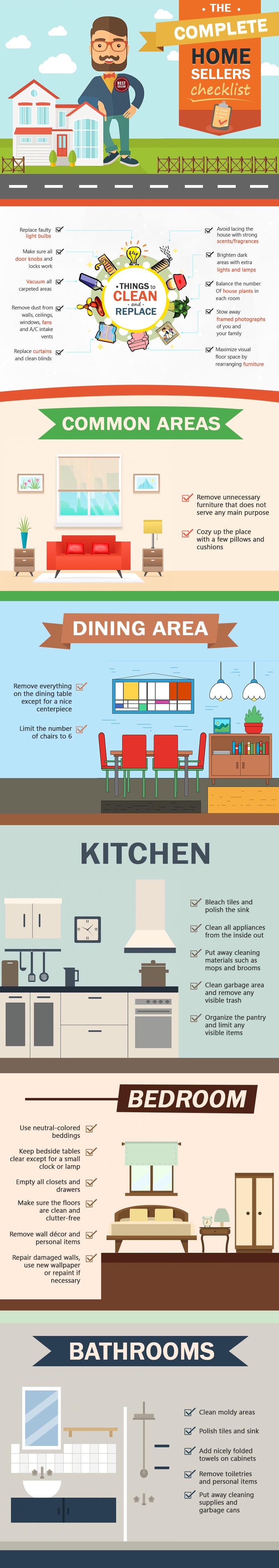 The Complete Home Sellers Checklist (Interior Preparation)