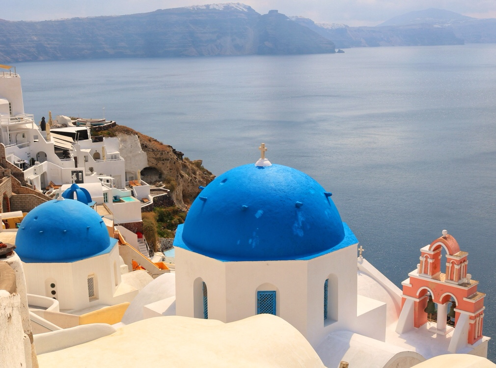 Famous Blue Domed Churches of Oia