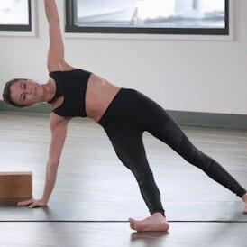 Fun Yoga Pose Fallen Triangle Leg Lifts Alo Moves