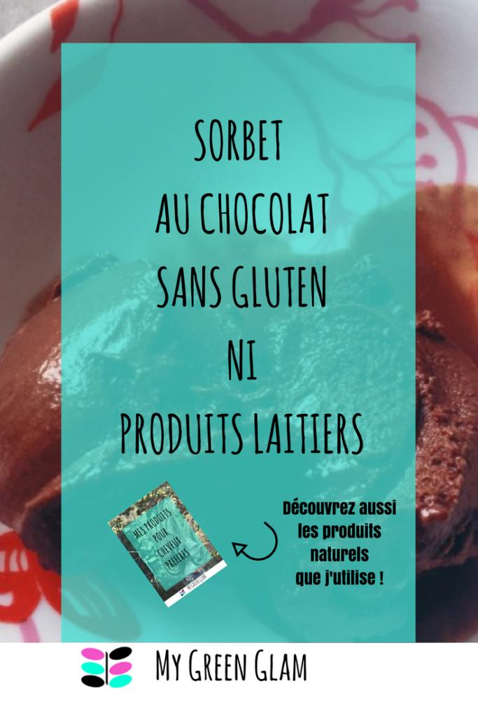Sorbet au chocolat sans gluten et sans produits laitiers