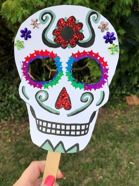 It is an image of Adaptable Day of the Dead Printable Masks