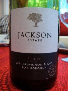 Jackson Estate Stich Sauvignon Blanc 2011 viini