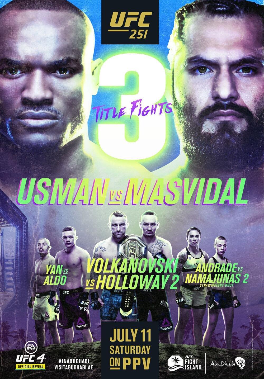 UFC 251 3 სატიტულო ბრძოლა.