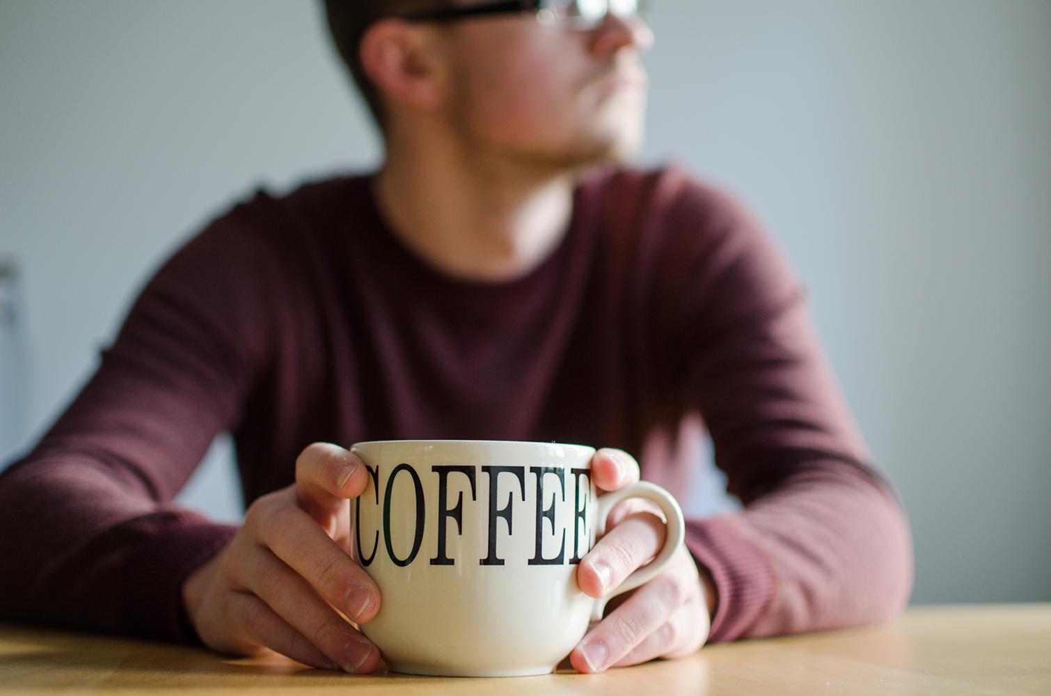 Faceless portrait Morning Coffee