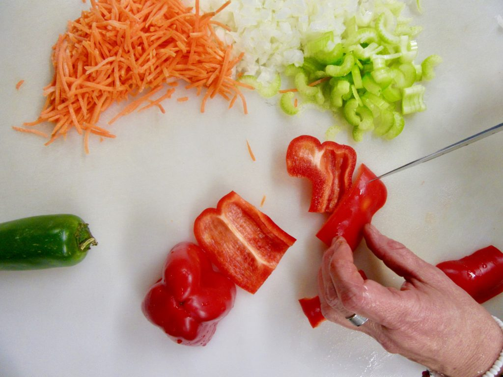 pepper, celery and carrots