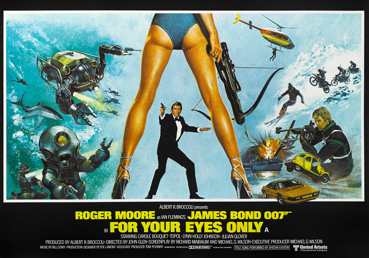 For Your Eyes Only James Bond Movie Canvas Wall Art Picture Print