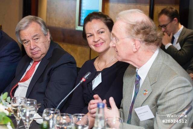 Trustee, Professor Sir Graham Thornicroft and CEO Elisha London attend UN Roundtable dinner on mental health