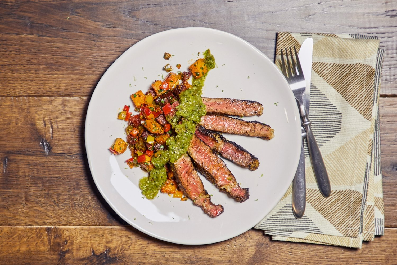 Ribeye Steak Espresso Rub And Salsa Verde Recipe Teco Peoples Gas Cooking
