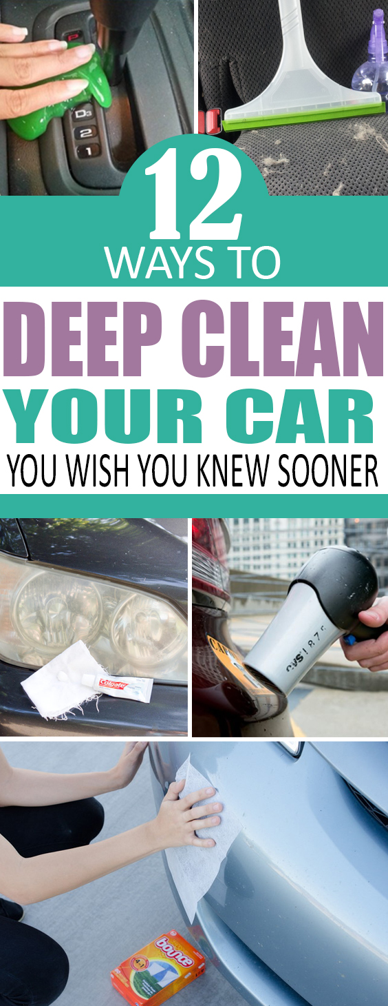 12 ways to deep clean your car like a pro!